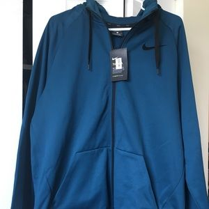 Men's NWT Nike Dri-Fit deep turquoise zip up
